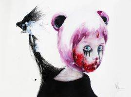 creepy panda by leilalilium