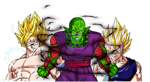 Majin Piccolo by overkillborjack