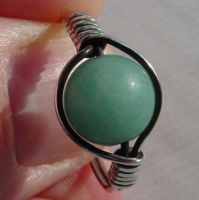Sterling Silver Amazonite Ring by LWaite