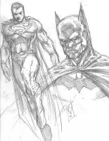 Batman and Supes by RudyVasquez