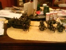 German sdk.kfz.6 and 88mm AT gun (with full crew) by suragis