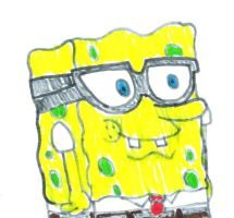 SpongeBob with Glasses by MarcosLucky96