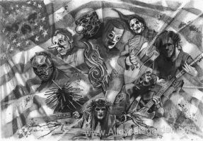 Slipknot and a flag by Alleycatsgarden