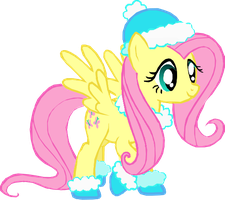 Fluttershy is ready for Winter by xdemonicxkittyx