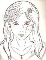 Girl with red eyes by Etherick
