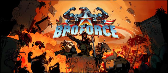 BROFORCE poster by DawidFrederik