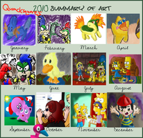 2010 Summary of Art by Quacksquared