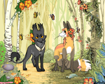Collab In the forrest by griffsnuff