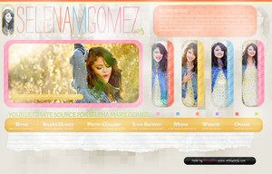 Selena Gomez header by CrimsonHeartx