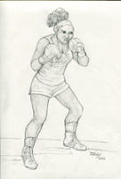 Challenge: Boxing Girl by plushbug