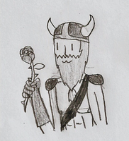 A dwarf and his rose by the-edude