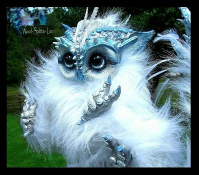 -SOLD-Posable Baby Owl Creature by Wood-Splitter-Lee