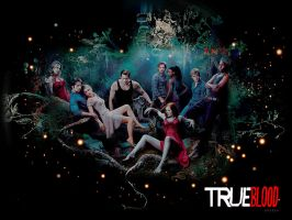 Wallpaper True Blood by shad-designs