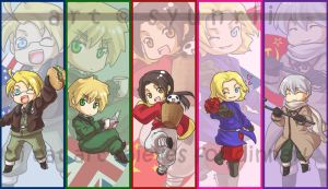 APH ::: Allies Bookmarks by syunrii