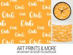 OMG Pattern - Art Print by pica-ae