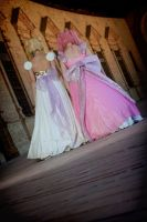 Princesses Serenity and Lady Serenity the palace by Sakura5002