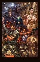 Resident Evil 5 colors by faroldjo