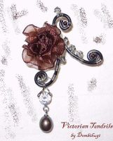 Victorian Tendrils Brooch by DombiHugi
