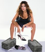 Eva Mendes in Cement Boots by hemper999