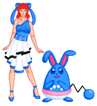 PP Entry Round 1: Melody B. and Opal the Azumarill by Riksie-Dixie