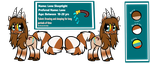 Official Sona Ref :Lone Sleeptight-Pony: by thelonedragonwolf