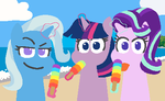 Icy pole at the beach by ThreeTwoTwo32232