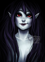 Vampire Queen - old drawing redraw by Nasuki100
