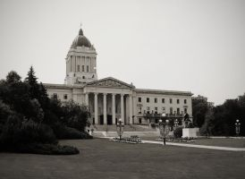 Another Manitoba Legislative Building BW by Joe-Lynn-Design