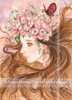 ACEO Peony Girl by JoannaBromley