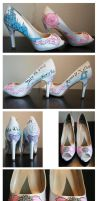 Custom Shoes: Cinderella Bride by setsuna22