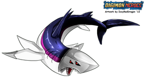 Digimon: Heroes - Sharkmon 2012 by HewyToonmore