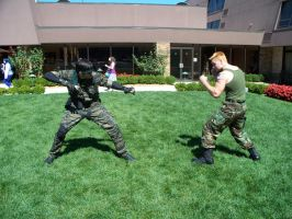 Guile vs Big Boss by Anaththeanswer
