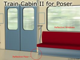 Freebie: Train Cabin II For Poser by UweG