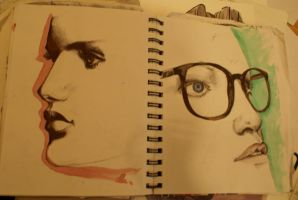 Graphic Diary--- portraits by Moruto