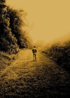 Walking Away sepia by Forestina-Fotos