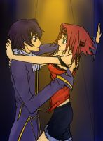 Lelouch and Kallen by penguintejas