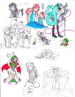 Another New Style Sketch Dump by Orangelargh
