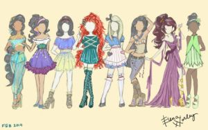 Disney Fashion Part 2 by Ellphie