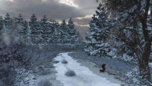 Country Road In Winter by anne1956