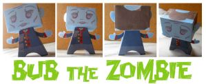 Bub the Paper Toy Zombie by Archer-1