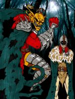 Etrigan and Jason in Armour by Demorta