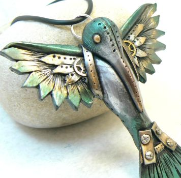 steampunk humming bird by DesertRubble