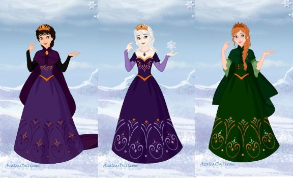 The Female Royals of Arendelle by ArielxJim08