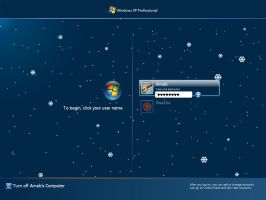 XP Winter Logon Screen by deviantarnab