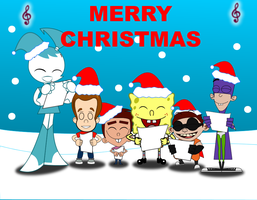 NICKTOONS CHRISTMAS FAN by mayozilla