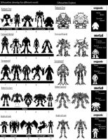 5 World Character Silhouettes by kingdomzone