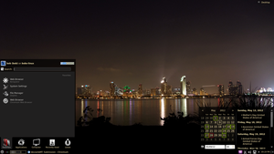 KDE city at night by GuiDoctor