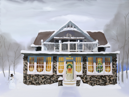 Groton House Winter by TheMuteRobot