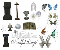 Needful things by loveit by TW3DSTOCK