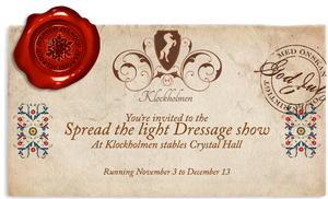 Spread the light dressage invitation by SilvesterVitale